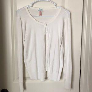 Sweaters - Plain white cardigan size medium